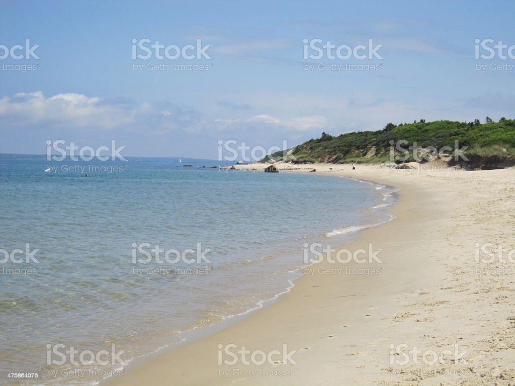 Martha's Vineyard Beach stock photo