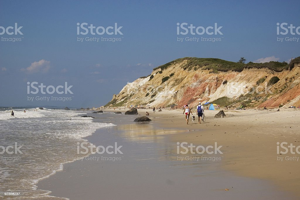 Martha's Vineyard Beach stock photo