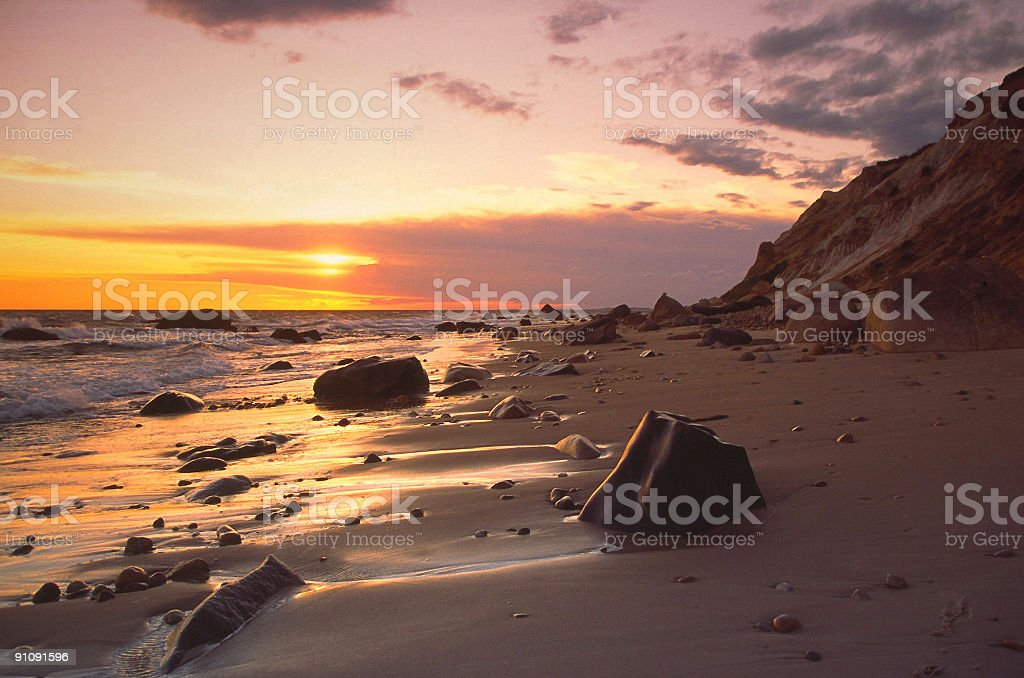 Marthas Vineyard Sunset stock photo