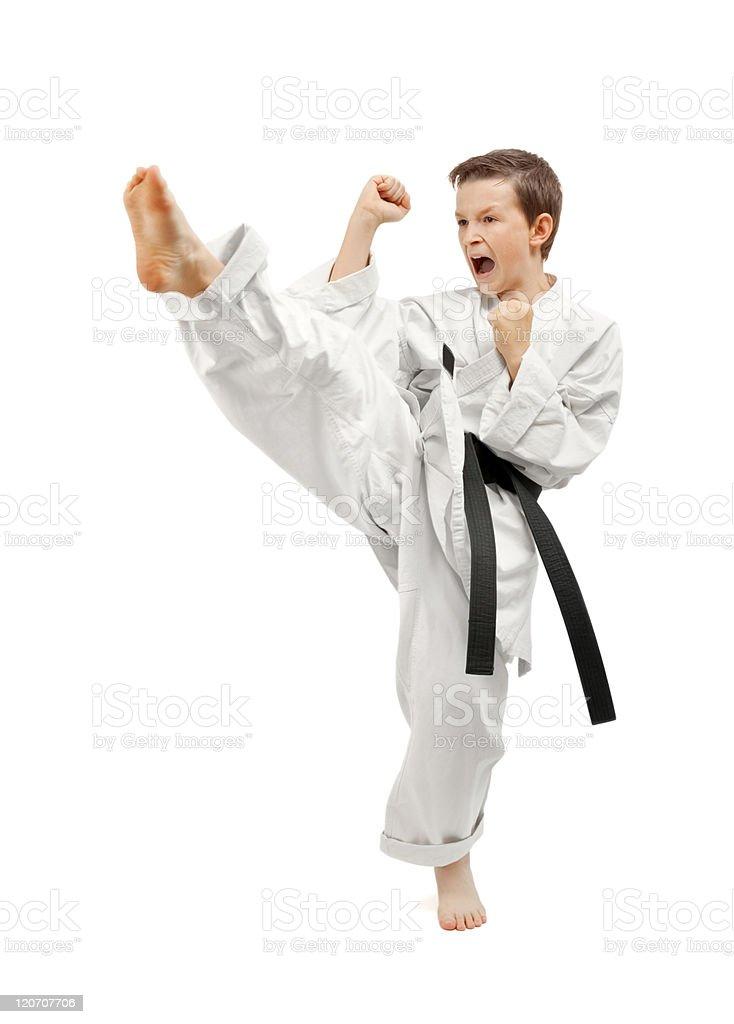 Martial arts boy stock photo