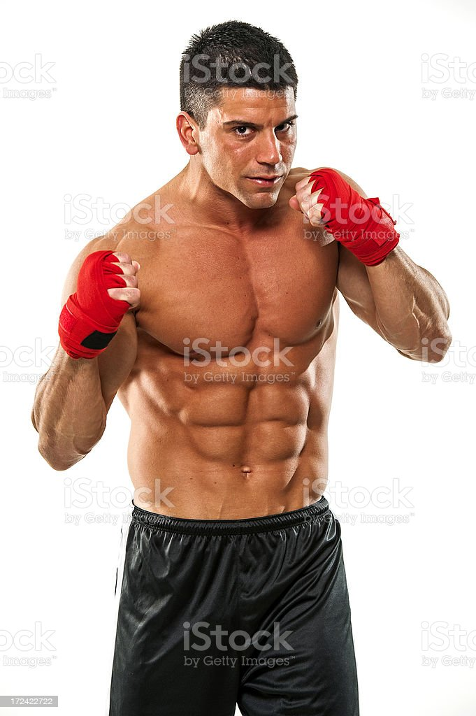 Martial Arts Fighter, MMA royalty-free stock photo