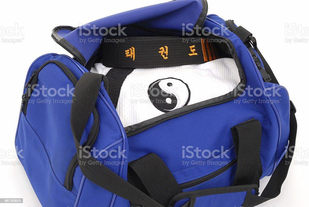 Martial Arts Gym Bag Royalty Free Stock Photo