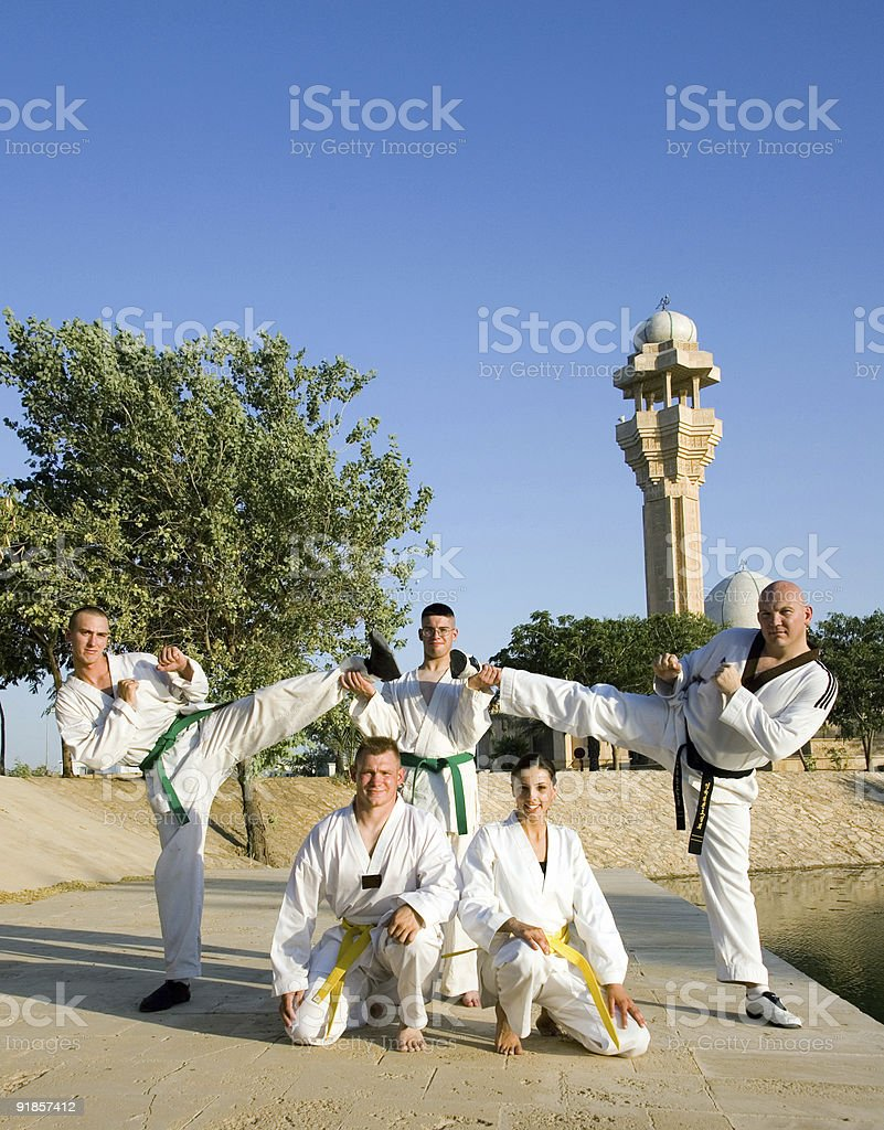 Martial Arts in Iraq 1 royalty-free stock photo