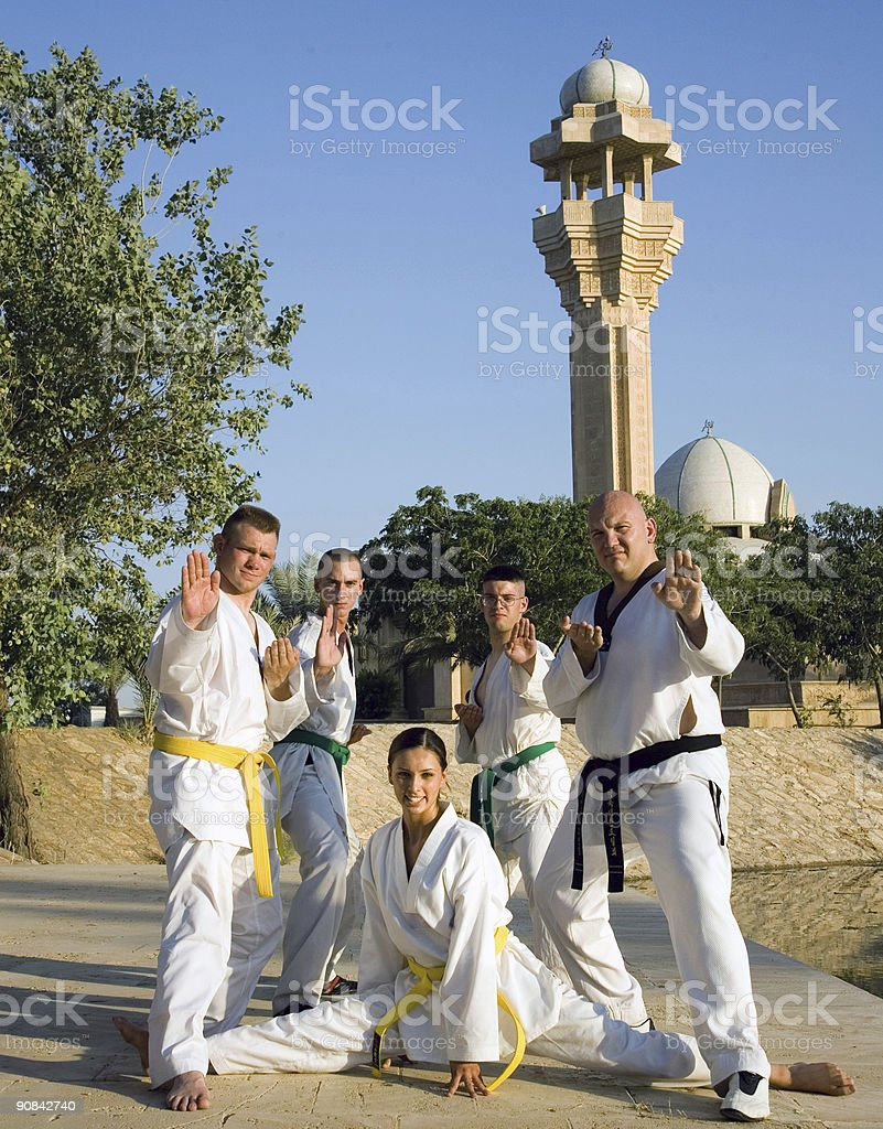 Martial Arts in Iraq 4 royalty-free stock photo