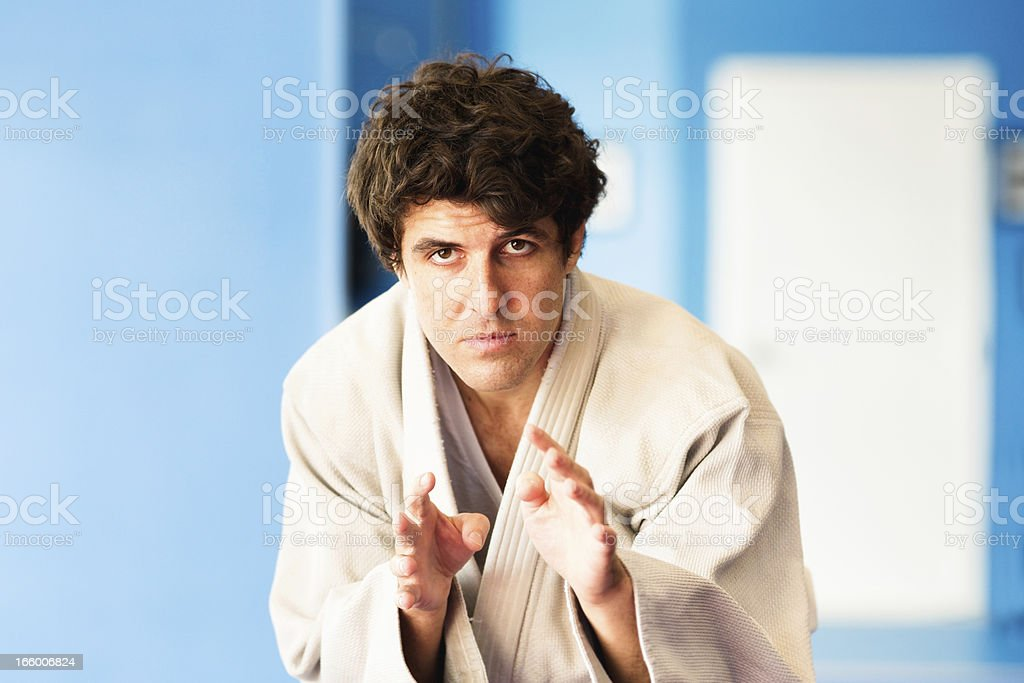 Martial arts Instructor concentrating royalty-free stock photo