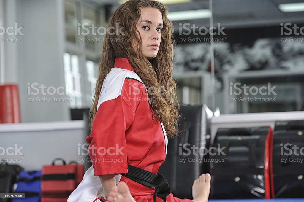 Martial arts knowledge royalty-free stock photo
