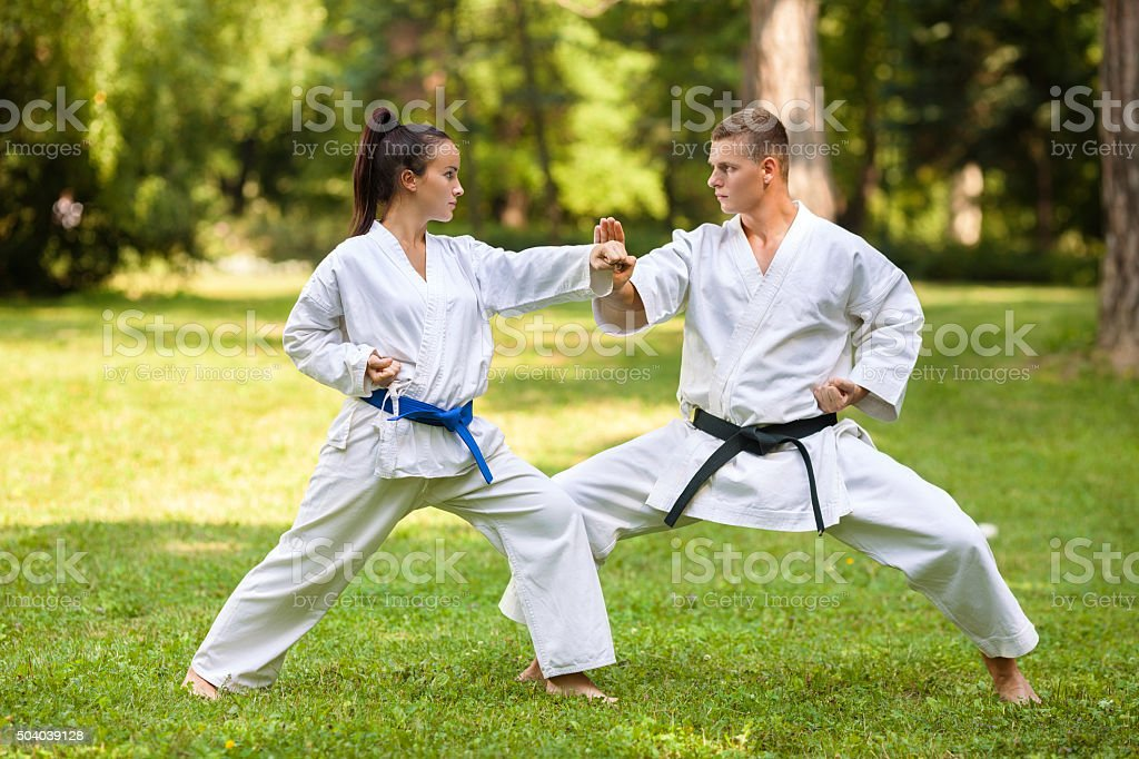 Martial Arts Practice stock photo