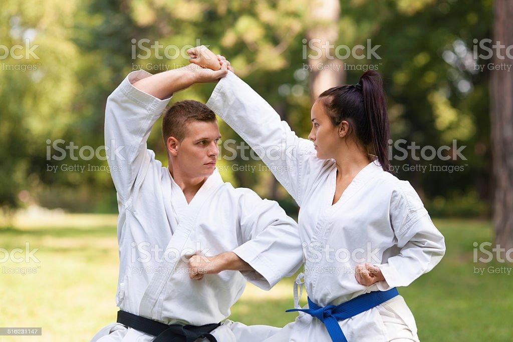 Martial Arts Practice stock photo