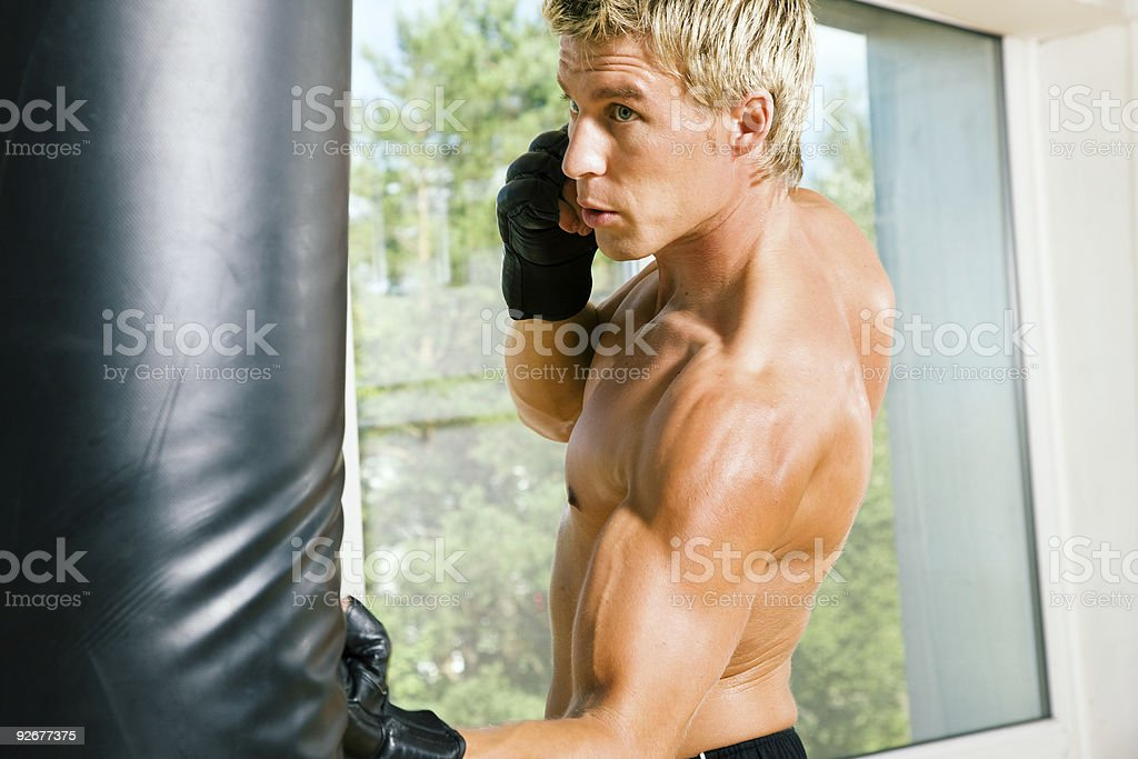 Martial Arts Punch stock photo