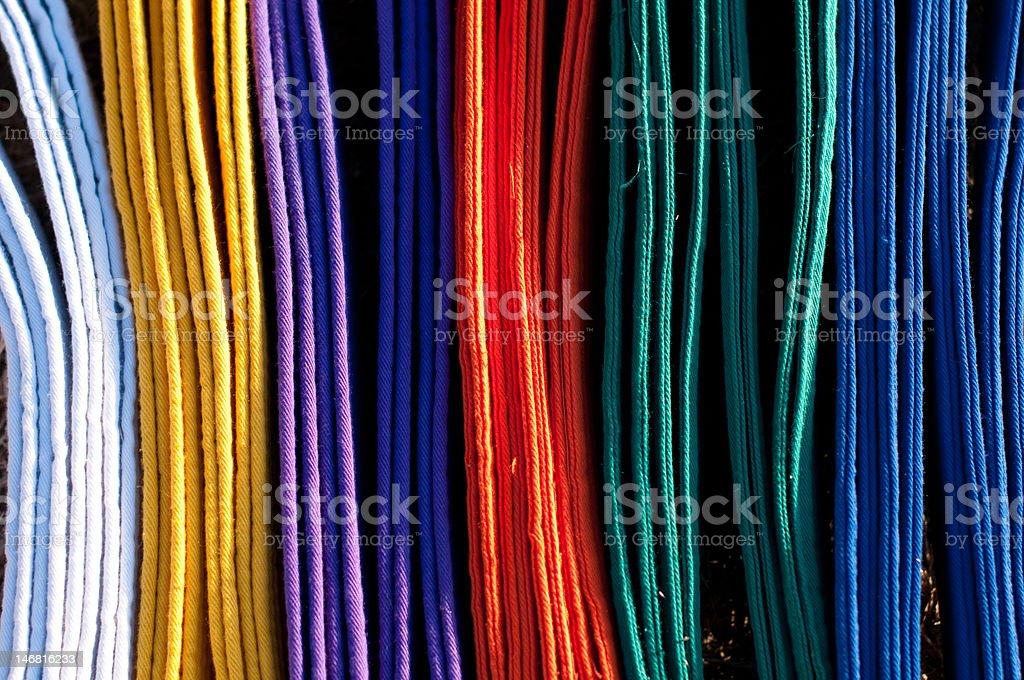 Martial Arts Rainbow stock photo
