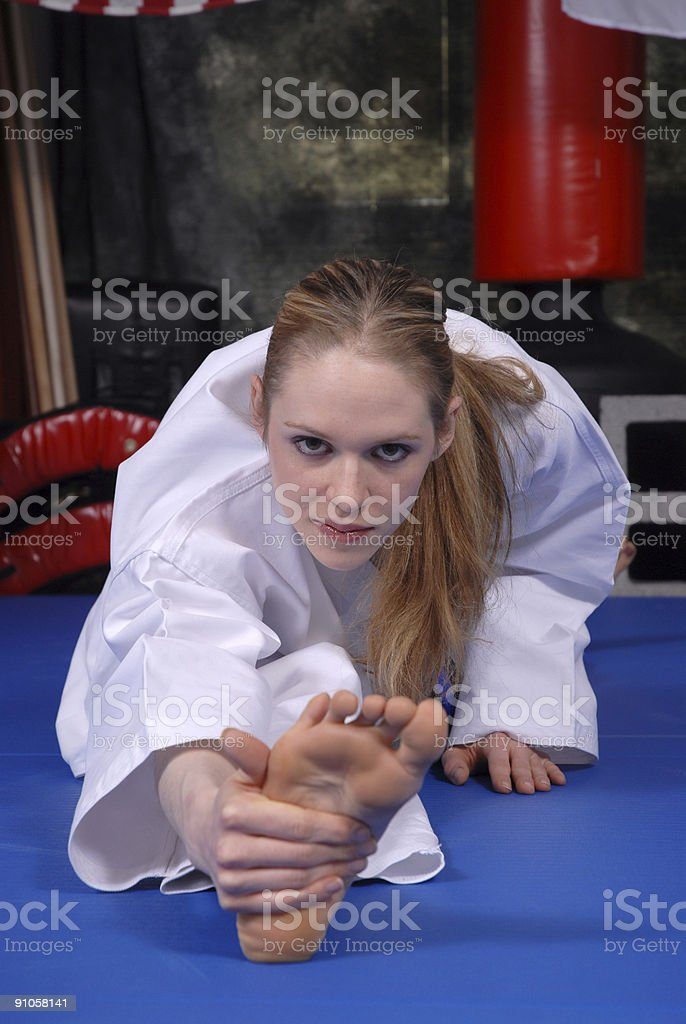 Martial arts self defense mind royalty-free stock photo