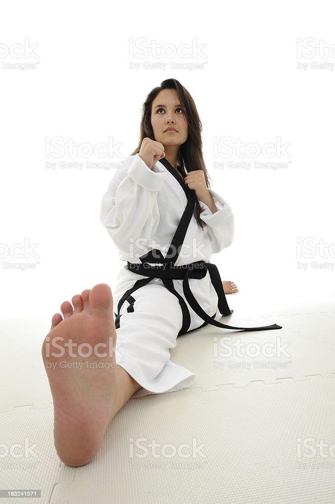 Martial arts splits royalty-free stock photo