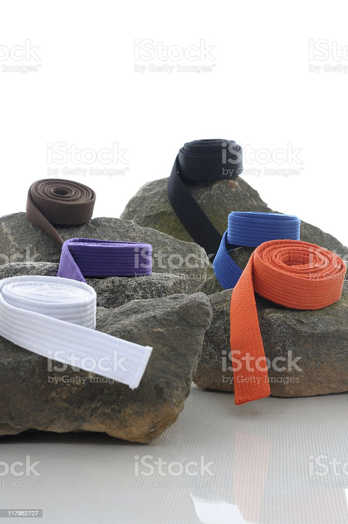 Martial Arts stepping stones stock photo