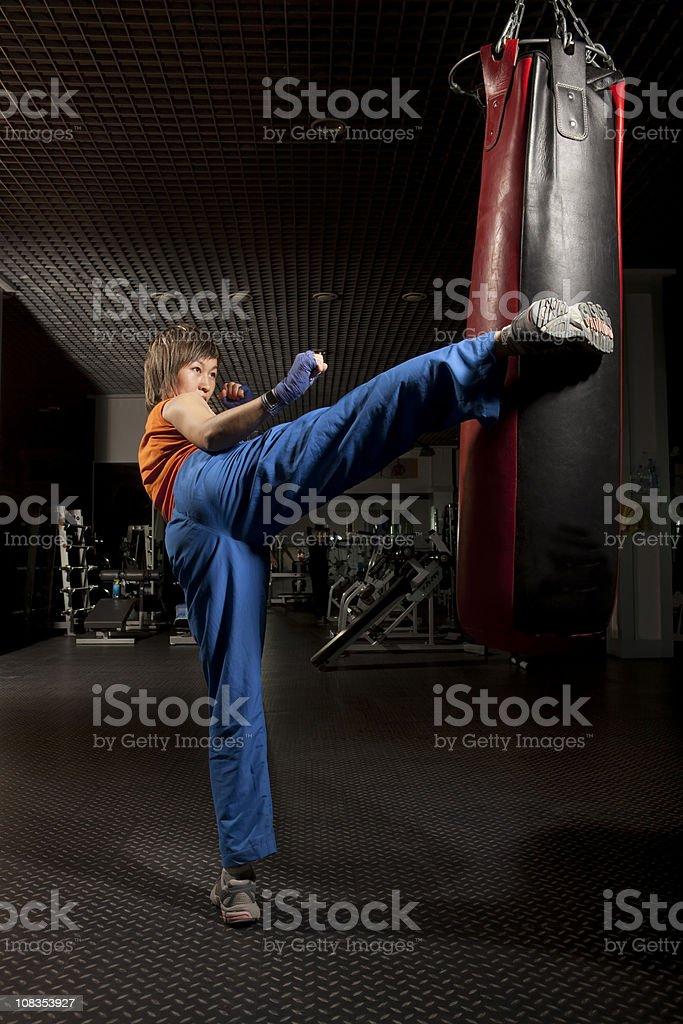 Martial Arts: Tae-bo. stock photo