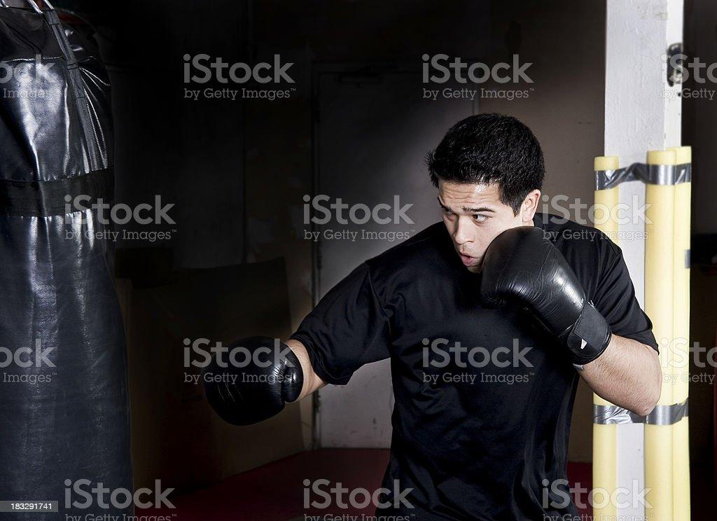 Martial arts training royalty-free stock photo
