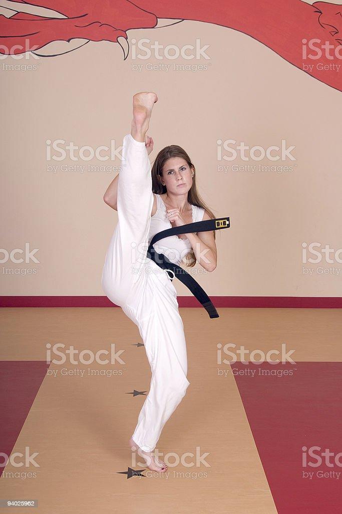 Martial Arts Woman royalty-free stock photo