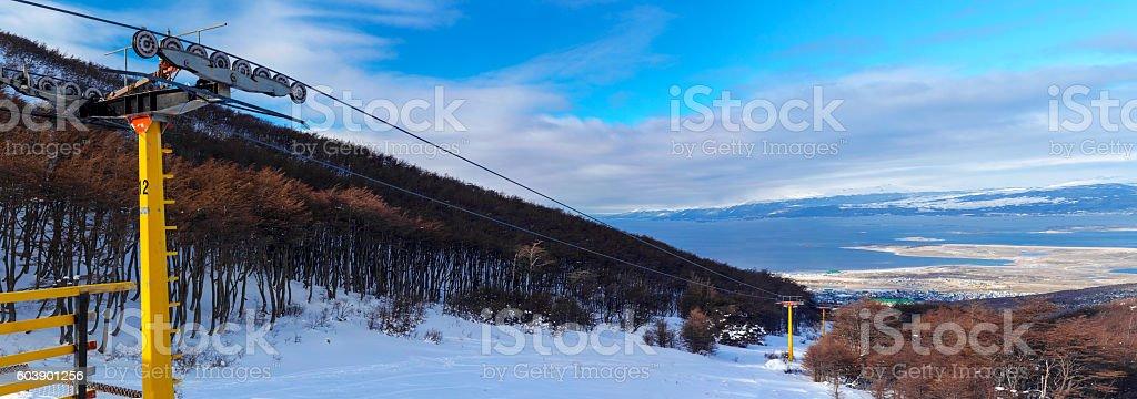 Martial Glacier at Ushuaia, Tierra del Fuego, Argentina stock photo
