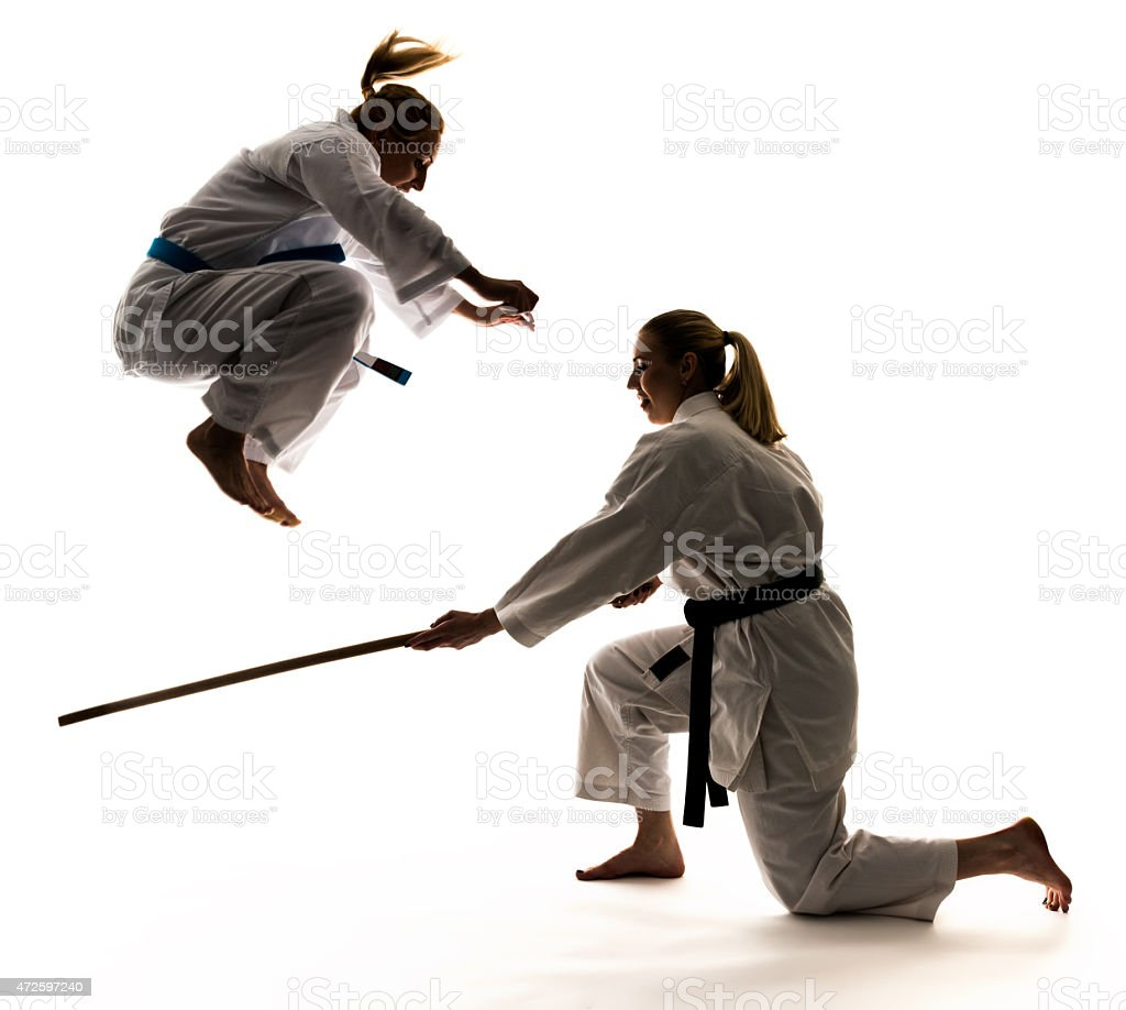 Martial training, drub stock photo