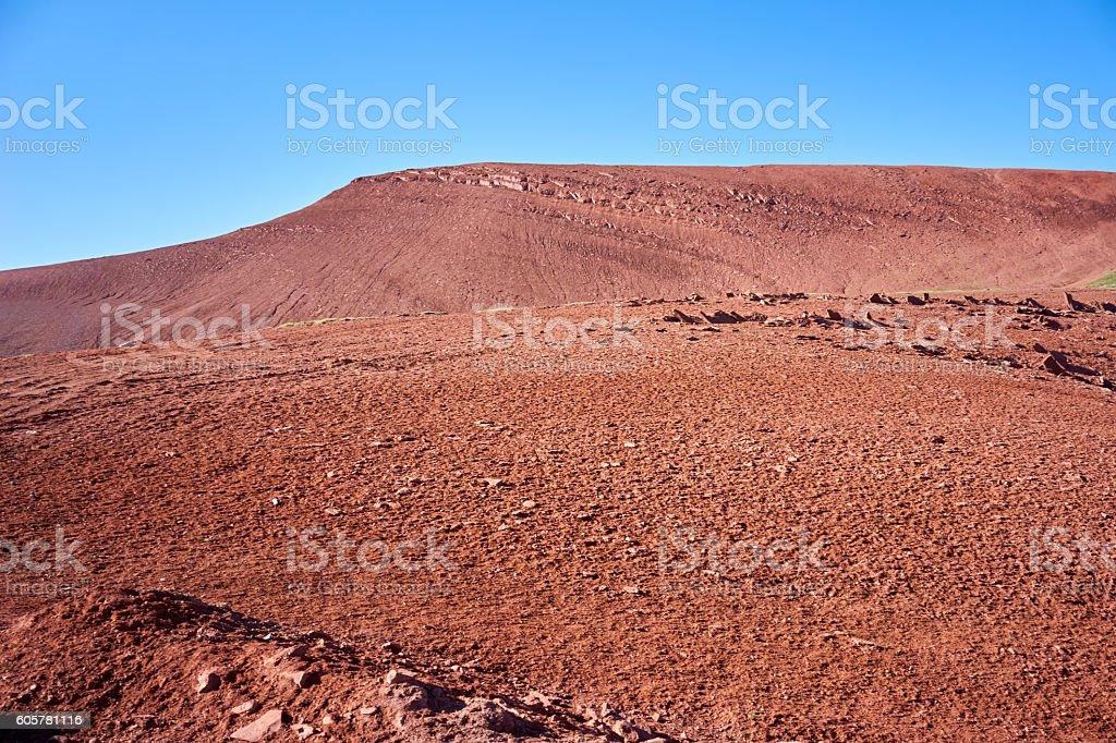 Martian landscape in Kichik-Alay Valley stock photo