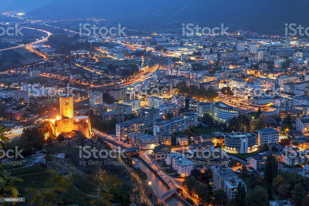 Martigny, Switzerland stock photo