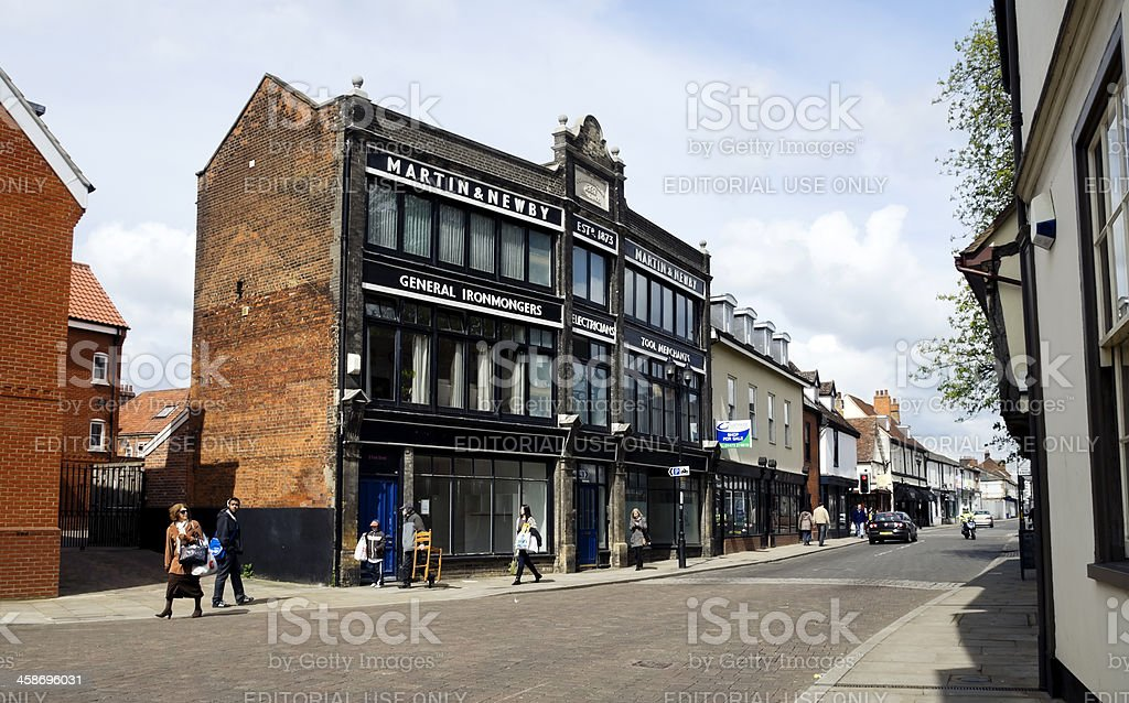 Martin and Newby, Fore Street, Ipswich, Suffolk stock photo