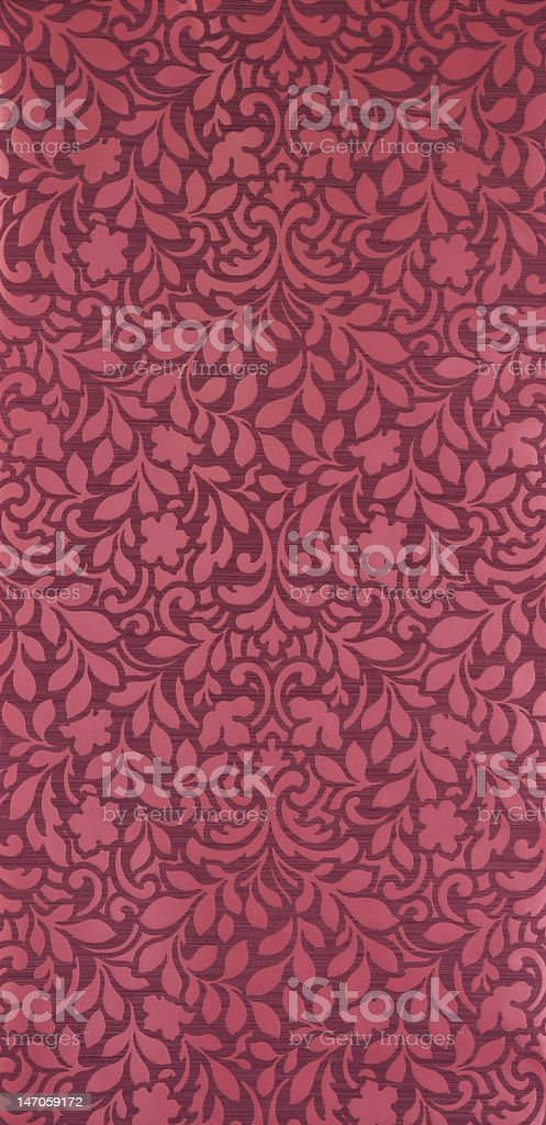 Martin floral pattern wallpaper stock photo