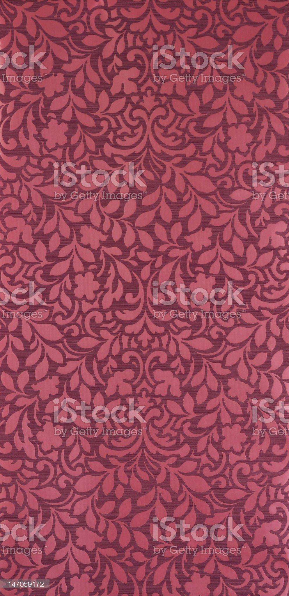 Martin floral pattern wallpaper royalty-free stock photo