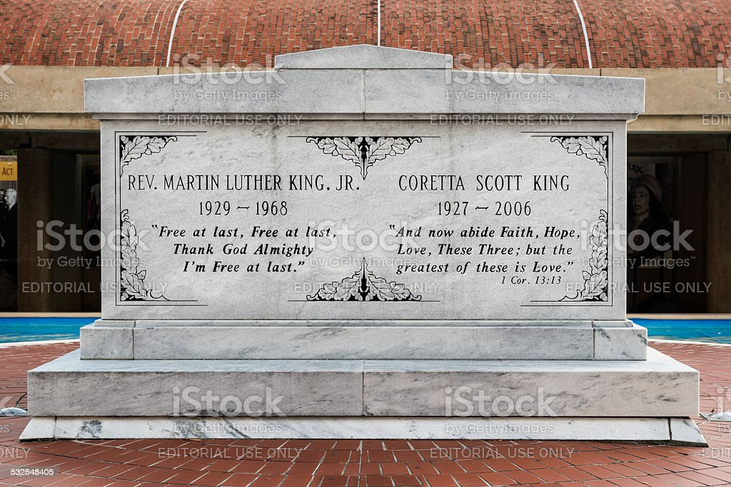 Martin Luther and Coretta King Tomb stock photo