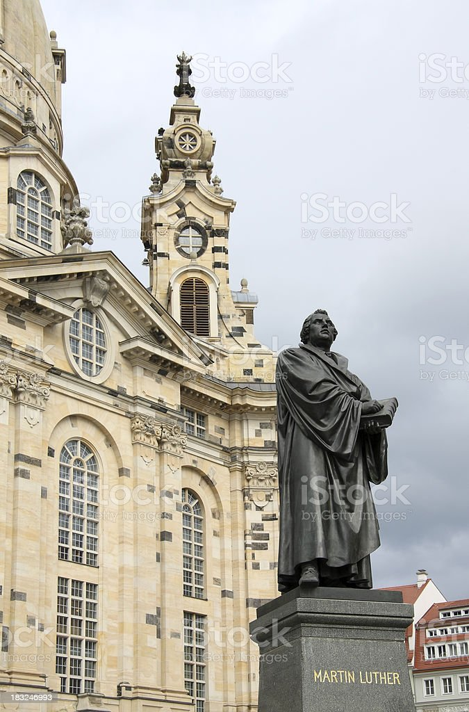 Martin Luther, Dresden (Germany) stock photo