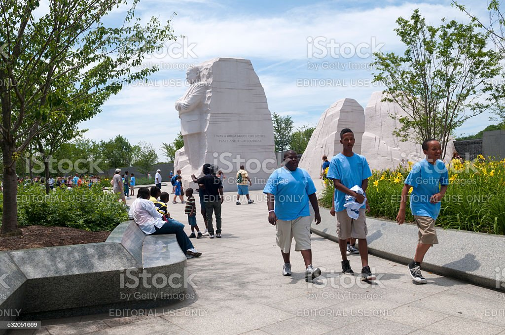 Martin Luther King Jr Memorial in Washington DC stock photo