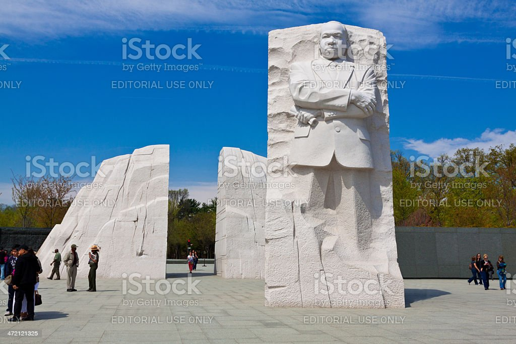 Martin Luther King Jr. Memorial, Washington DC. Clear blue sky. stock photo