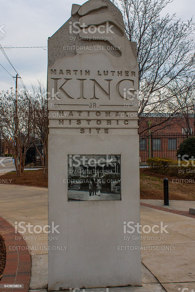 Martin Luther King Jr. National Historic Site - Atlanta stock photo