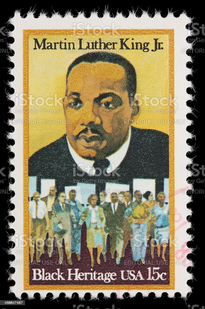 USA Martin Luther King Jr postage stamp royalty-free stock photo