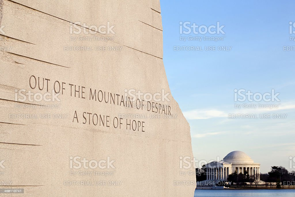 Martin Luther King Monument DC stock photo