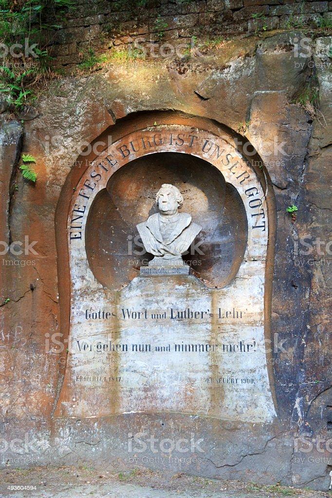 Martin Luther monument in Bad Schandau, Saxon Switzerland stock photo