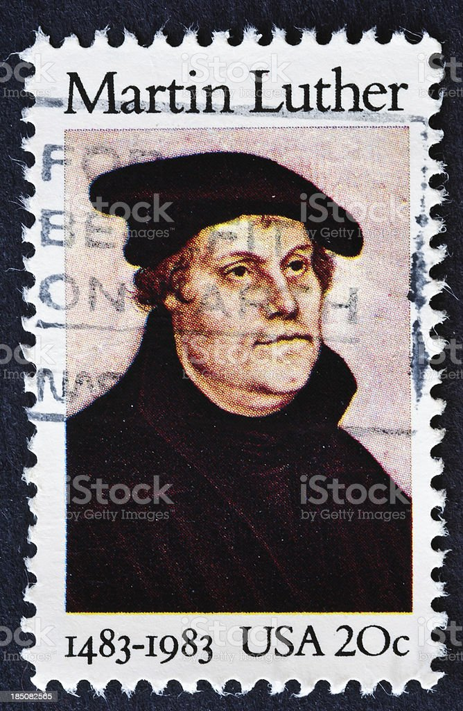 Martin Luther Stamp royalty-free stock photo