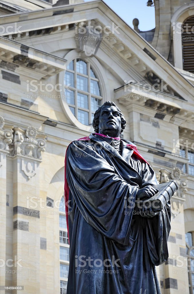 Martin Luther Statue in Dresden, Germany stock photo