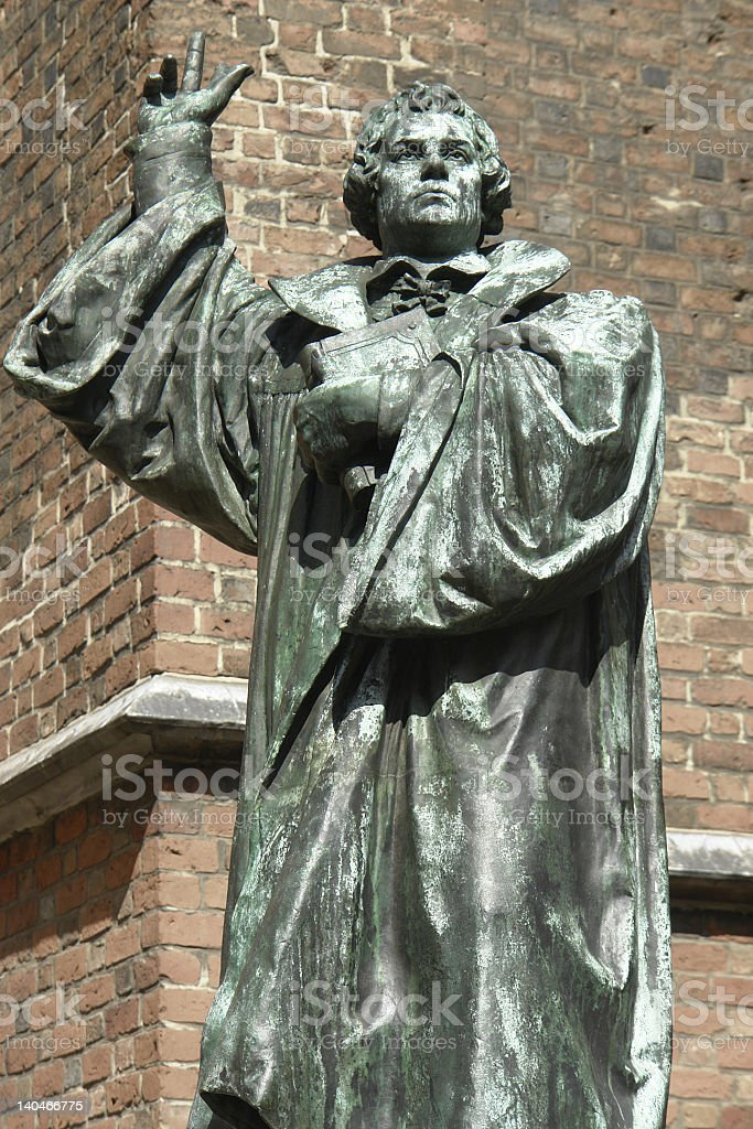 Martin Luther statue in Hanover, Germany royalty-free stock photo