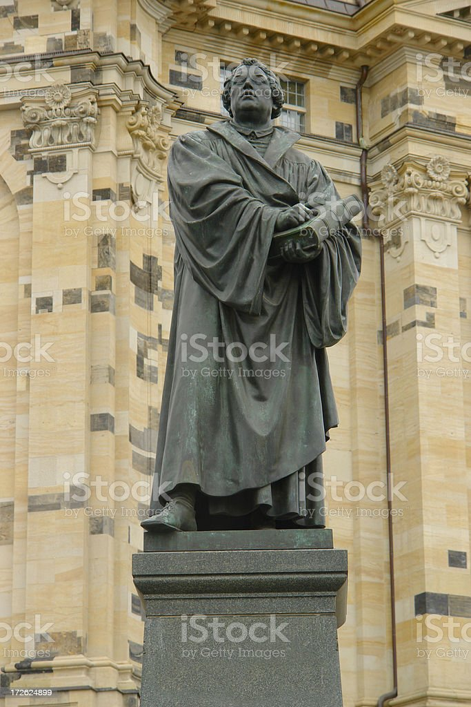 Martin Luther statue stock photo