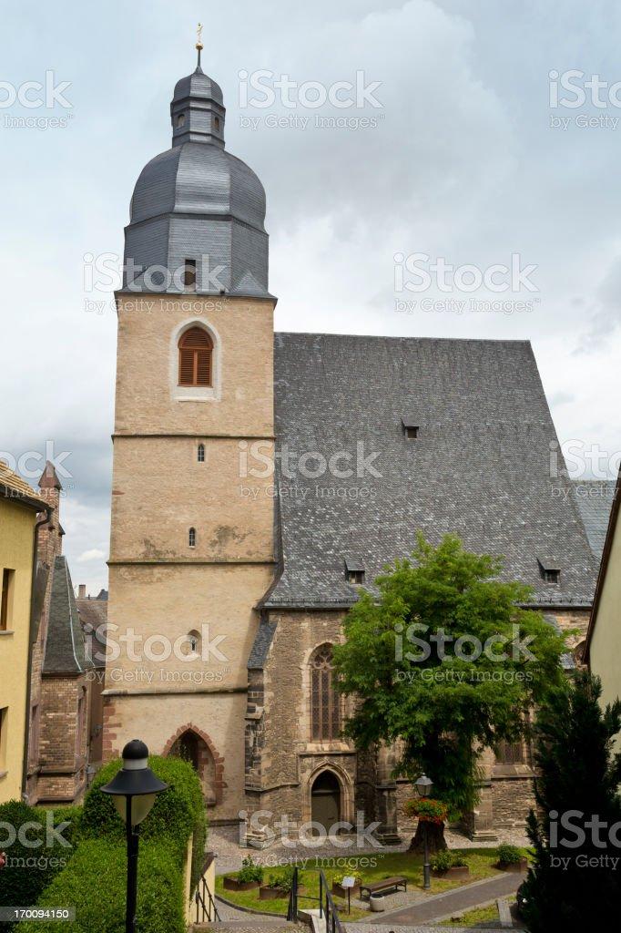 Martin Luthers baptistry in Eisleben stock photo