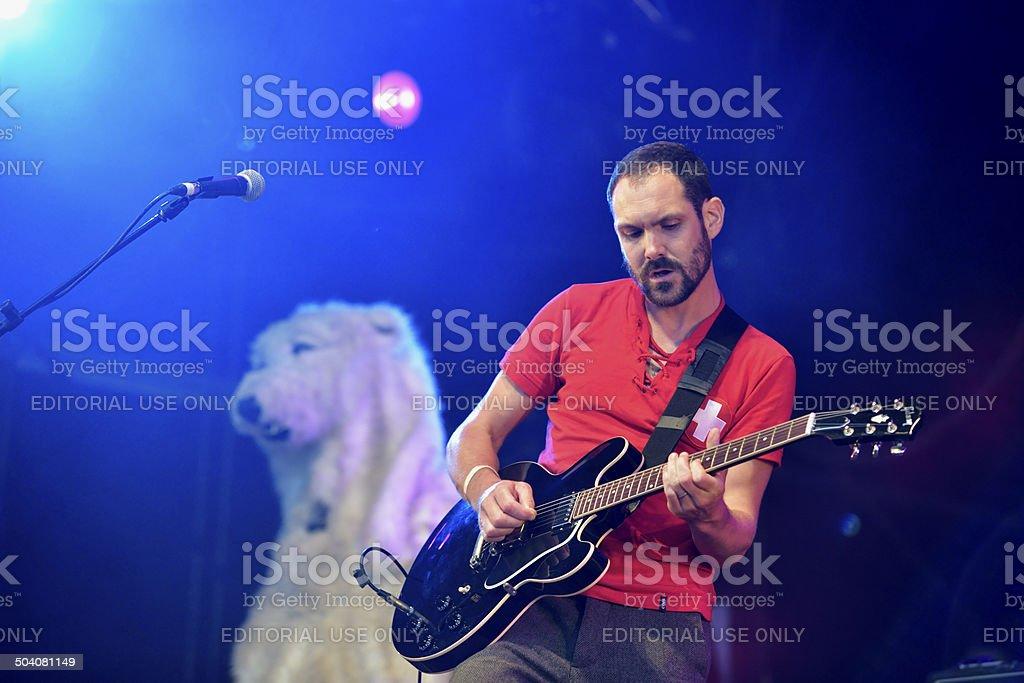 Martin Noble, guitarist with English band British Sea Power stock photo