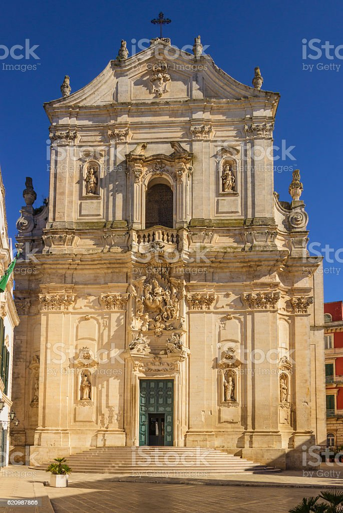 Martina Franca, Apulia. The facade of St. Martin's Basilica ,(Taranto). stock photo