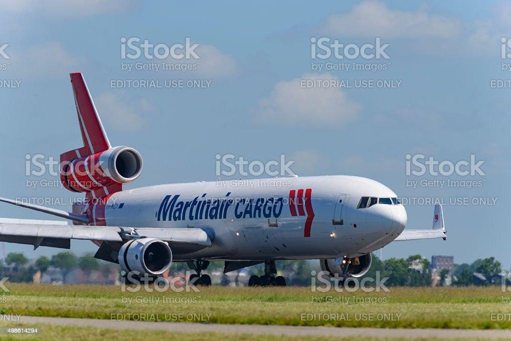 Martinair Cargo McDonnell Douglas MD-11 airplane stock photo