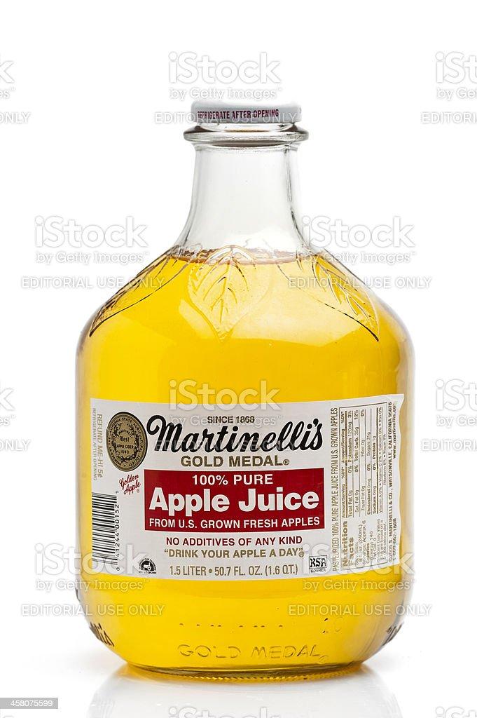 Martinelli's Apple Juice royalty-free stock photo