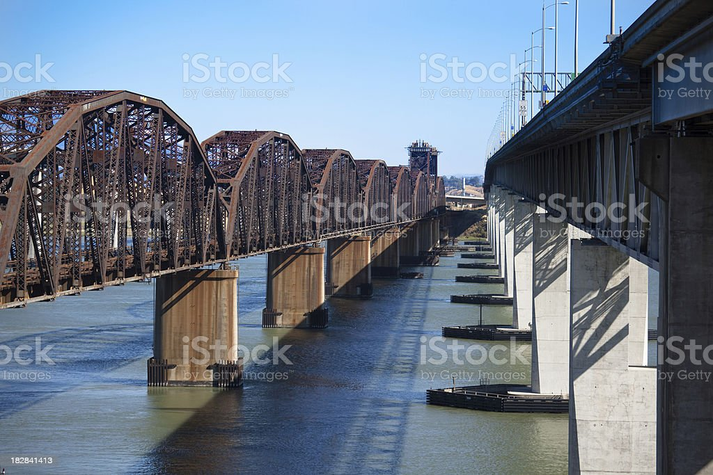 Martinez Bridges stock photo