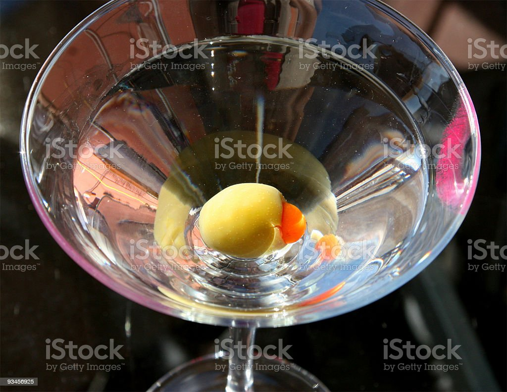 Martini and Olive royalty-free stock photo