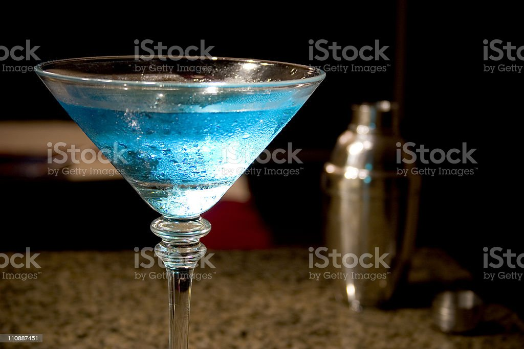 Martini and Shaker royalty-free stock photo