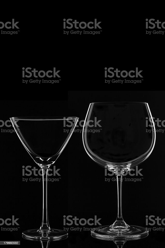 Martini and Wine Glass royalty-free stock photo