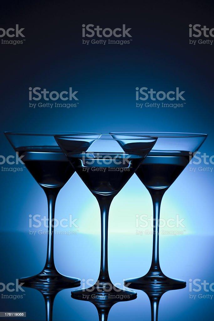 Martini - blue royalty-free stock photo