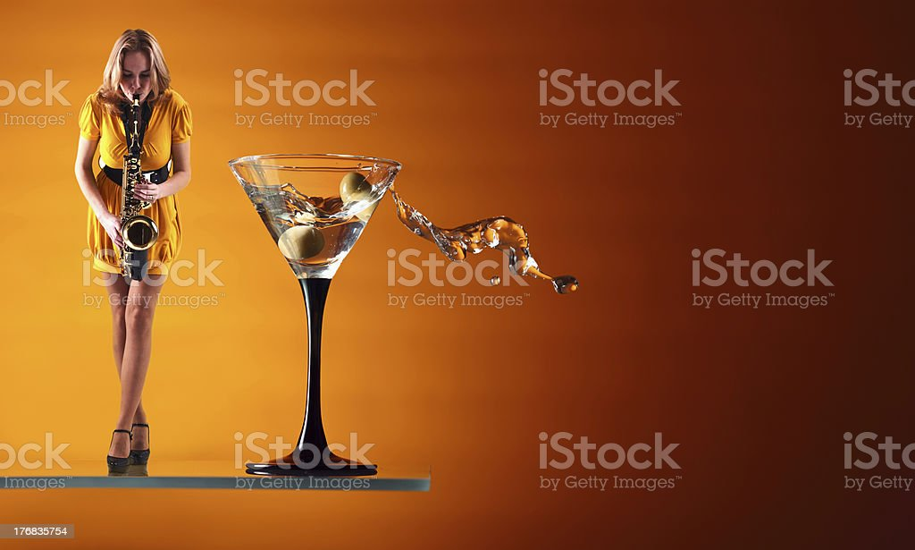 martini blues. stock photo